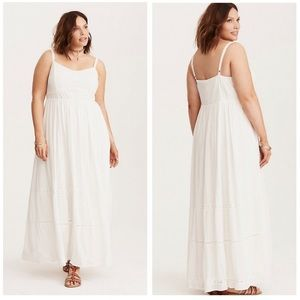NWT Torrid | Lace Tiered Maxi Dress